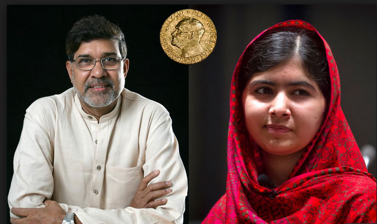 Malala+Yousafzai+and+Kailash+Styarthi+have+been+awarded+the+Nobel+Peace+Prize+for+their+accomplishments+as+activists+for+children%27s+education.