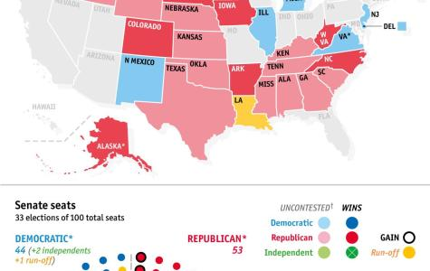This is a summary of the senate races from Election night. Courtesy of economist.com