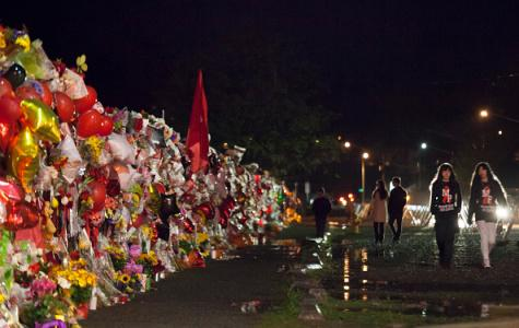 The Marysville-Pilchuck Shooting Memorial for the victims and the shooter, Jaylen Fryberg.   Courtesy of gettyimage.com