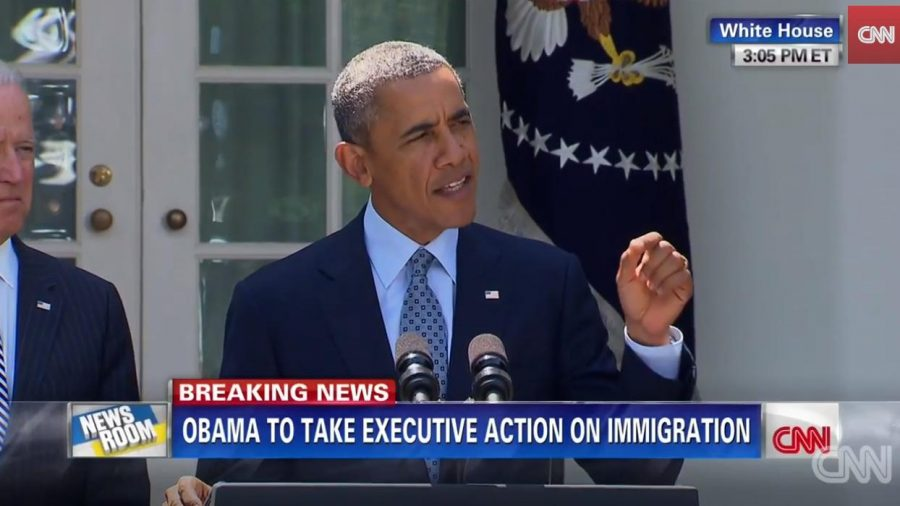 The President recently announced his plans to sign an executive order on immigration. Courtesy of CNN.com