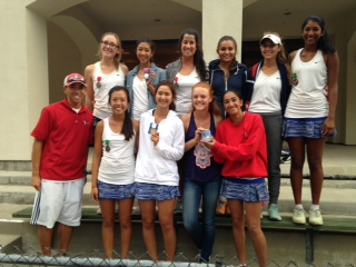 The starters of the Varsity team showing off their medals after competing in League Finals.