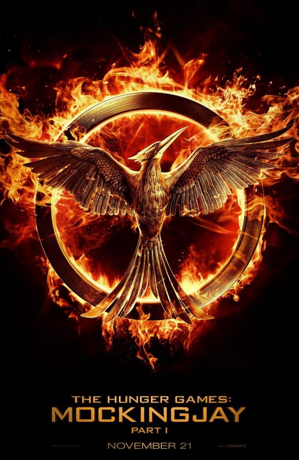Mockingjay: Part 1 movie poster.