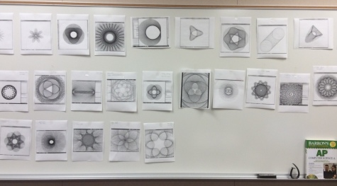 Photo by Kevin Chiang Some of the spirographs produced in YLHS's Hour of Code.