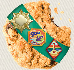 Trios - Chocolate Chips nestled in a gluten free peanut butter oatmeal cookie. Millions of Americans have problems eating food with gluten—and now there is a Girl Scout Cookie just for them! Made with whole grain oats and real peanut butter, the Gluten Free Trios is premiering in a number of test markets this year. - girlscouts.org