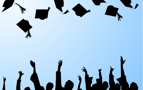 A traditional cap tossing ceremony at graduation.