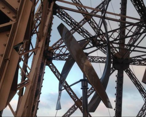 A wind turbine hidden in the tower