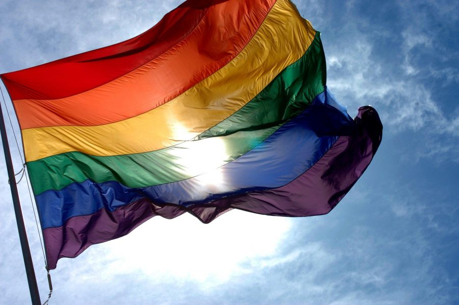 The Gay Pride flag, popularized in the late '70s by Gilbert Baker.