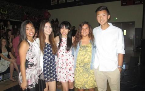 Miya Sheker, Kayla Reger, Samantha Kuo, Thalia Hull, and Thomas Kim radiate happiness after receiving their awards.