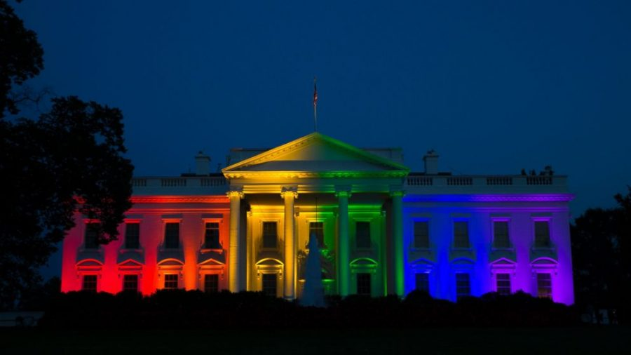 """The White House was lit to demonstrate our unwavering commitment to progress and equality, here in America and around the world,"" a White House official said. ""The pride colors reflect the diversity of the LGBT community, and tonight, these colors celebrate a new chapter in the history of American civil rights."""