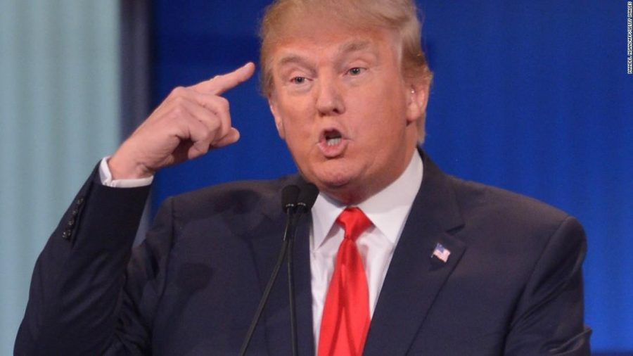 Donald Trump during the Republican debate. Photo courtesy of CNN.com