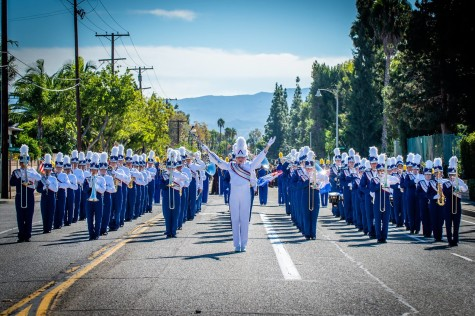 Cruising Down the Street with the Marching Band