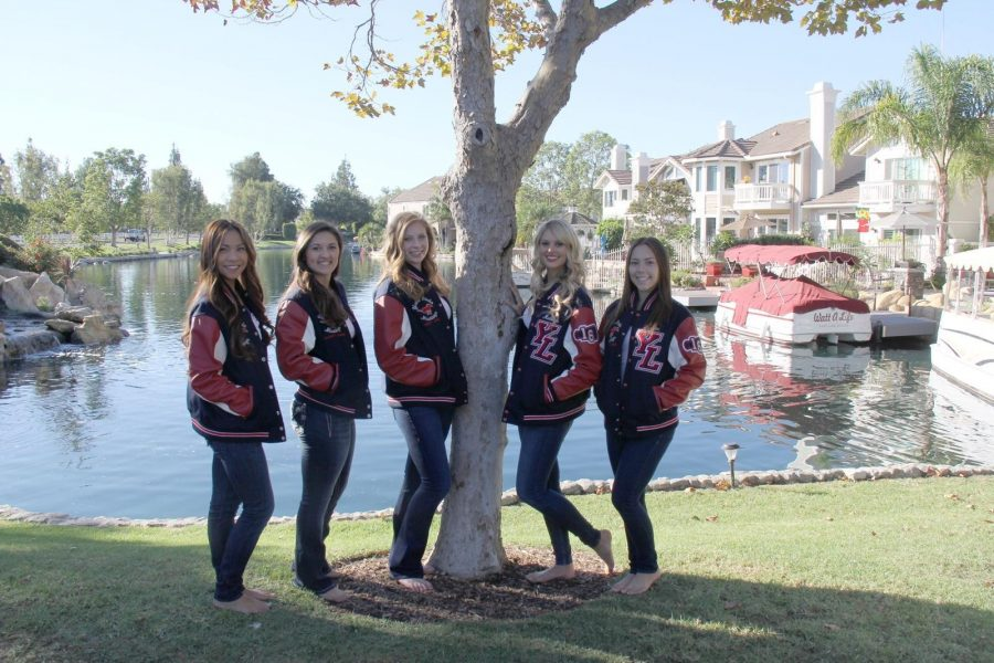 Megan+Gadbaw%2C+Katelyn+Spangenberg%2C+Kaila+Labrador%2C+Brittney+Barr+and+Ashlyn+Rumbolz+sporting+their+varsity+jackets%21