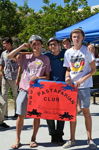 Pastafarian Club having a great time at club rush