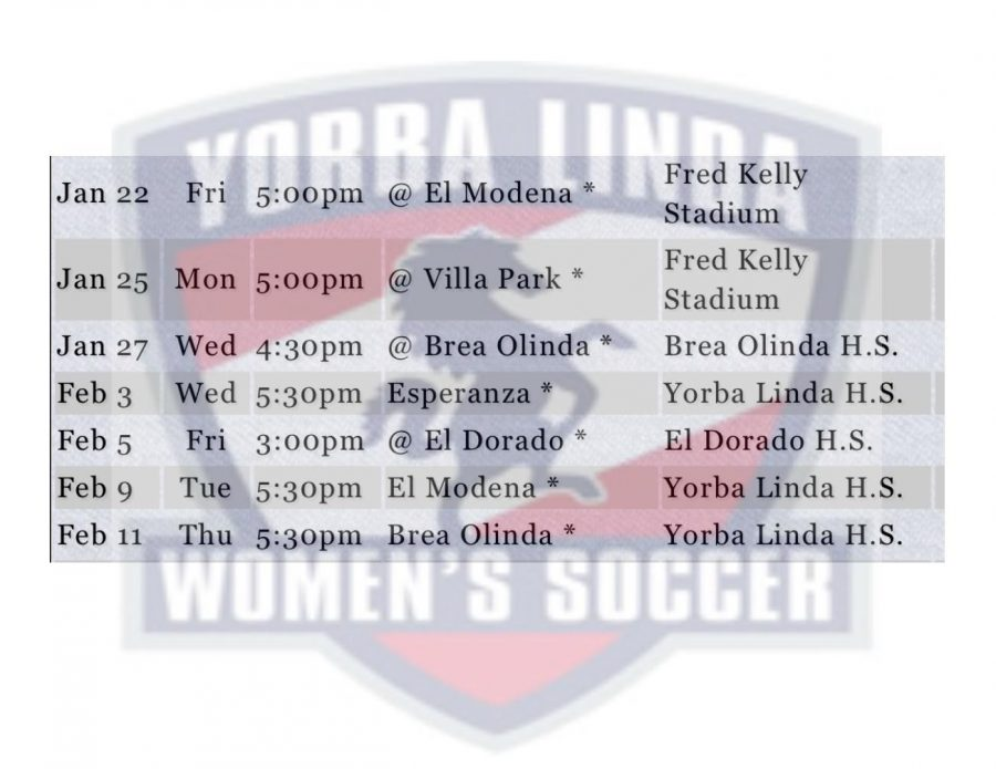 Women's Soccer Schedule
