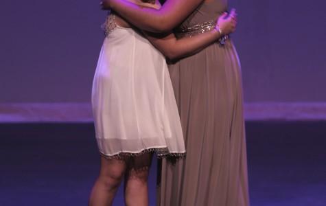 Marissa Stinnett hugging Marissa Hernandez after the announcement of the night's winner.