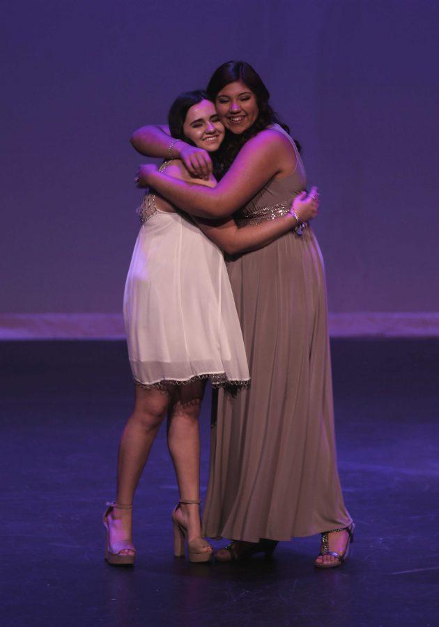 Marissa+Stinnett+hugging+Marissa+Hernandez+after+the+announcement+of+the+night%27s+winner.