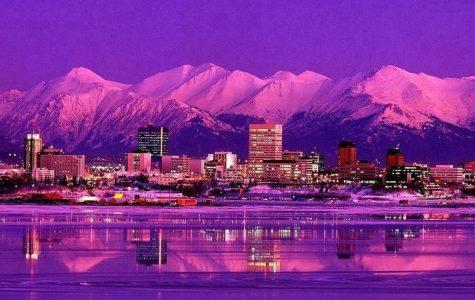 Stunning night views of Anchorage, Alaska