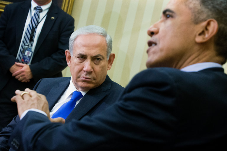 President+Obama+meets+Prime+Minister+Netanyahu+for+negotiations.%0APhoto+courtesy+of+The+New+York+Times.%0A