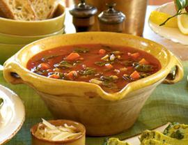 Acquacotta soup in a Italian Restaurant