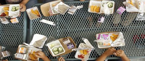 The lack of lunch tables on our campus causes many problems.