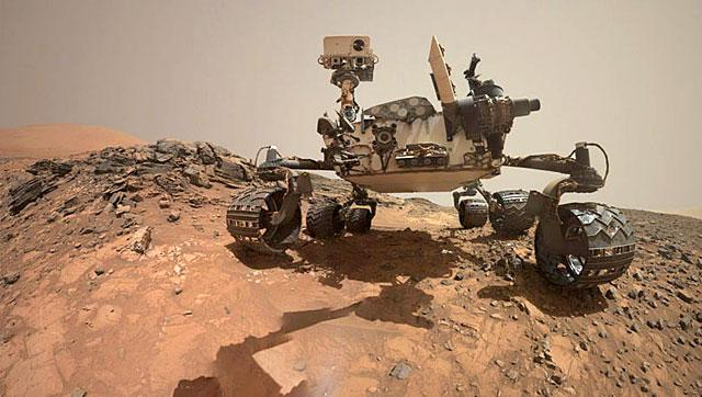 Here is an image of the Curiosity Rover