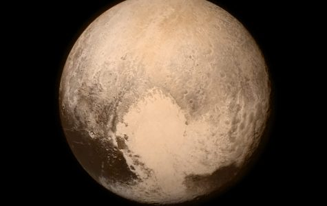A photo of Pluto as seen by New Horizons'