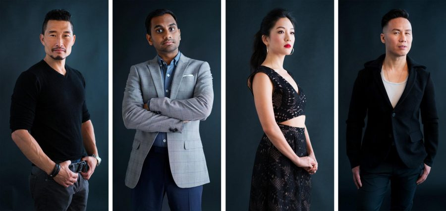 From left: Daniel Dae Kim, Aziz Ansari, Constance Wu and BD Wong are among the selected few that are lucky enough to make it in the entertainment industry.