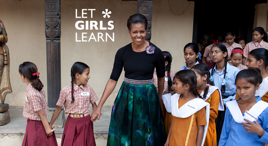 Michelle Obama and her Let Girls Learn campaign work to help adolescent girls receive education. Photo courtesy of The White House
