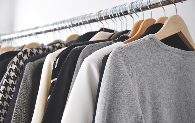 A rack of clothes, photo courtesy of Rose and Fig