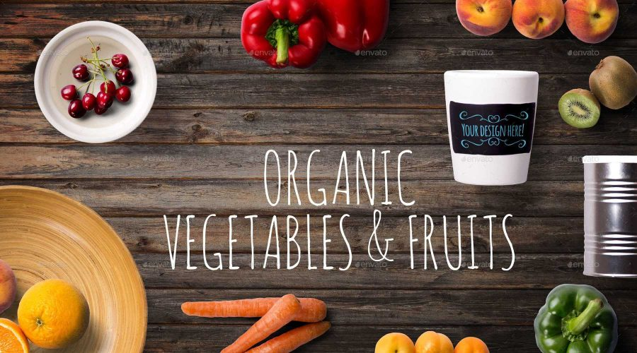 Organic foods, Photo courtesy of GraphicRiver