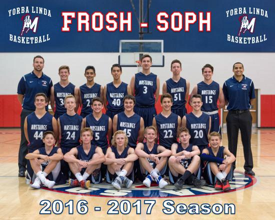 The Yorba Linda Frosh/Soph Basketball team