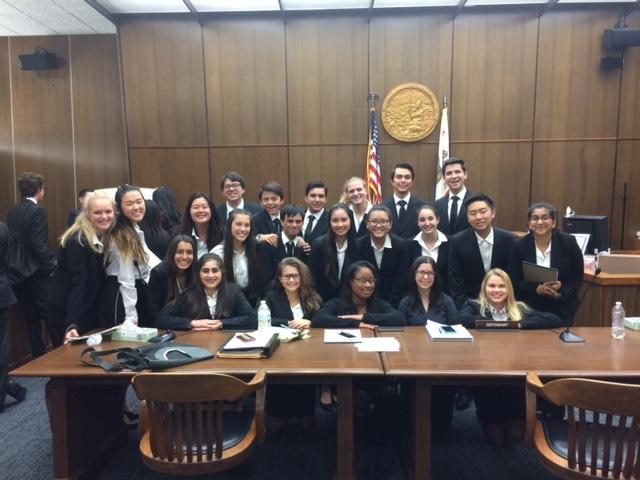 YLHS's mock trial competes at the Orange County Superior Court-Central Justice Center on December 1st, 2016.