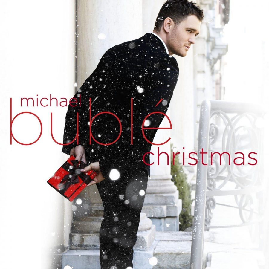 Michael+Buble+poses+for+his+Christmas+album.