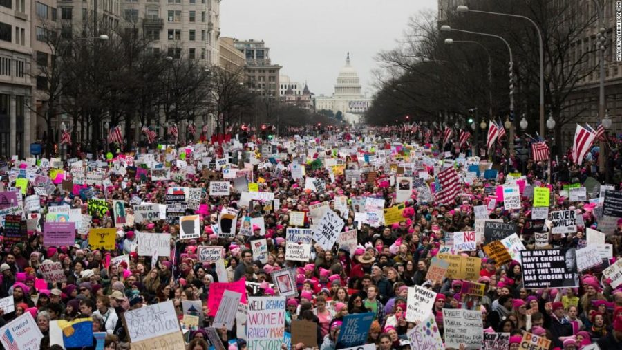 The+Women%27s+March+attracted+thousands+of+people%2C+not+just+women%2C+to+march+for+their+rights.