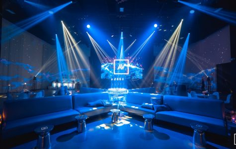 AV Irvine, the venue of this year's Winter Formal, appears dazzling with beams of light and luxurious furniture.