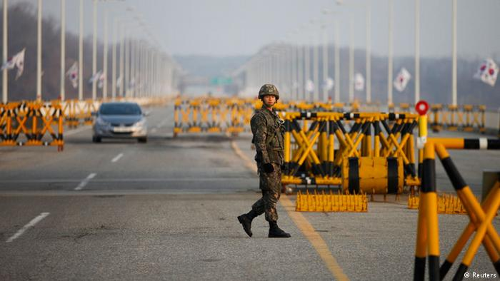 A South Korean soldier, Photo courtesy of DW News