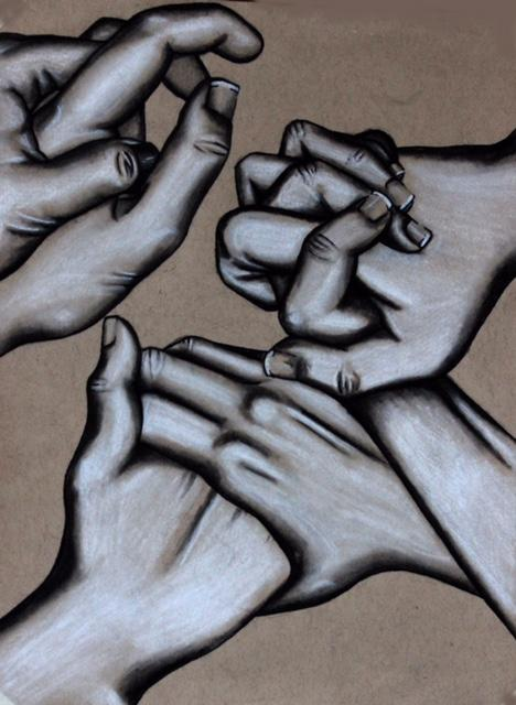 This charcoal drawing is drawn by McKenna Biegert, a senior in the AP Studio Art class.