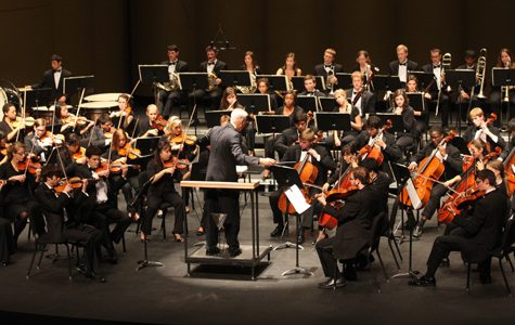 This is a picture of about the set up and instruments that the YLHS String Orchestra had used on the day of festival.