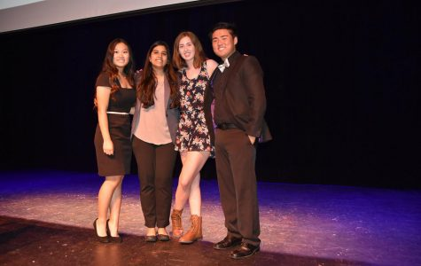 Photo provided by Mr. Lejano: Last year Heather Gammon, Aleeha Kalam, and Roger Fang won the