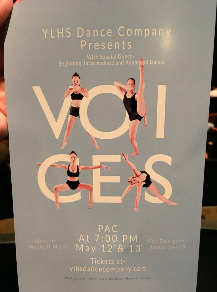 A poster by Dance Company advertising