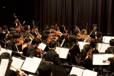 This is an orchestra setup very similar to the YLHS orchestra's at the Valencia concert a few nights ago.