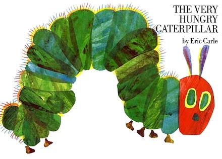 The Very Hungry Caterpillar by Eric Carle. Photo credit: https://en.wikipedia.org/wiki/The_Very_Hungry_Caterpillar