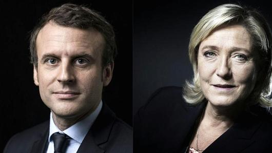 These are the two candidates running for President in France.