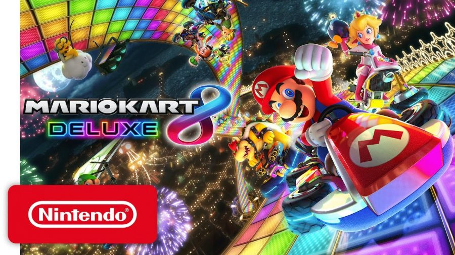 Mario+Kart+8+Deluxe%2C+the+game+on+top+of+its+video+game+racing+genre.%0A