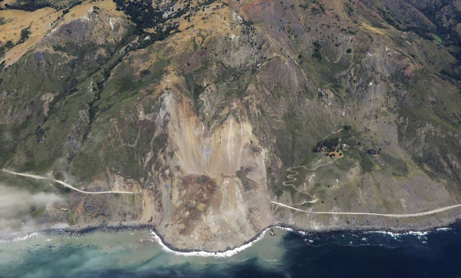 The Big Sur Landslide, Photo Courtesy of SFGate