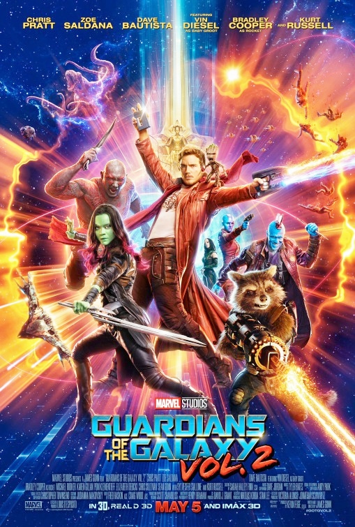 Guardians of the Galaxy Vol. 2 movie poster.