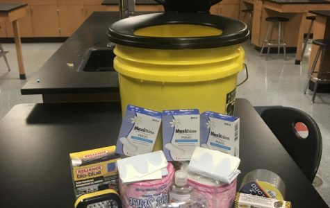Some of the many things that are in the emergency containers in case of a natural disaster.