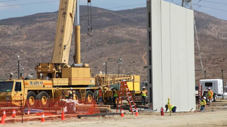 Building of the Trump Wall. Photo credit: metro.us