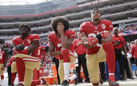 NFL players kneel during the national anthem and people get angry over this minor action