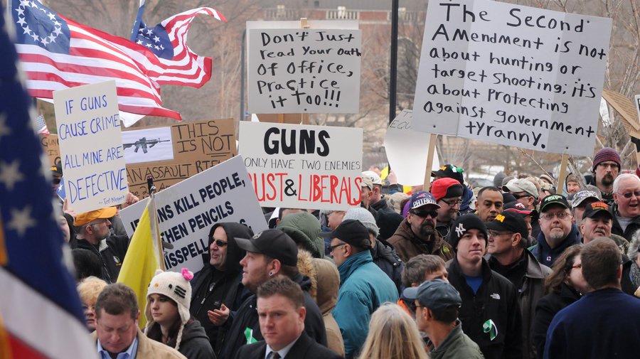 Protest for stricter gun control laws increased after the Las Vegas shooting.